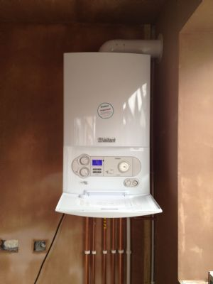 Vaillant boiler installed in new kitchen extension