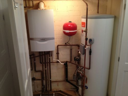 Vaillant Boiler And Mega Flow Unvented Cylinder Installation